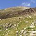Die letzten Höhenmeter weglos auf den Gipfel