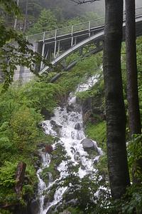 Brändbach mit Strassenbrücke.