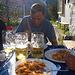 Essen und Trinken nach langer Tour.