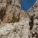Typisches Klettergelände am Anfang des Steiges.