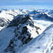 Blick vom Gipfel zum Breitstock 3030m und Marscholhorn 2970m