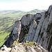 Felstürme der Loo, Blick vom Gipfel den Filderchöpf, ganz links der westliche Turm