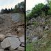reparierter  Steinschlag nach Oberems ( es  kann noch mehr  kommen)