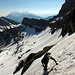 In einer Mittelfeld-Passage beim Speer. Das Klettersteigseil noch komplett eingeschneit.