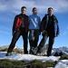 Cyrill, Tanja und Andre auf dem Gipfel des Diepen 2222m
