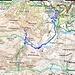 Kartenausschnitt mit eingezeicnetem GPS Track