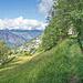 Beginn der Suonenwanderung bei Pt. 1269 oberhalb Oberbirgisch