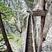 Hier schön zu sehen: das Togguloch, der Toggu und der Krapfen, der Tragebalken