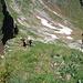 Ein Versuch die zeitweilige Steilheit des Geländes etwas rüberzubringen, hier im Absteig zum Col d'Arpille