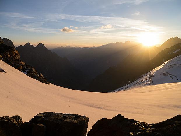 Bergromantik. Blick Richtung Erstfeldertal