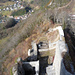 Tiefblick vom Burgturm auf Waldenburg