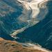 Die Zunge des Morteratsch-Gletschers