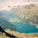 Tiefblick auf die Seen vom Piz San Gian