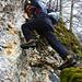 Put versucht die erste Felsbarriere direkt - aber leider war der Fels zu brüchig!