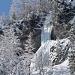 Cascades de glace pour amateurs pourvus de crampons et piolets...