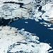 Lago di Sello mit Eisschollen.