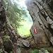 Durchschlupf auf dem Weg zum Breitenstein
