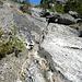 Felsplatten mit Wasserrinnen