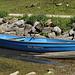 das blaue Boot in seinem Heimathafen