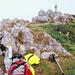 Mes compagnons au sommet de l'Ochsen, où le ciel est encore bouché