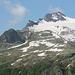 vista dell'alpe Piatt, che era sfruttato dal Corte Zott. In evidenza il Pizzo Pecora e lo splugo murato del Piatt