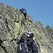 Leichtes Klettern am Südwestgrat des Brichlig