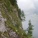 Felsenpfad zur Fisialp (Foto vom 2012)