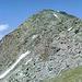 Geschafft - nach mehr als 2h Gestolper über wackelige Felsblöcke, endlich wieder festen Boden unter den Füßen. Blick zurück auf den Westgrat von wenig oberhalb von Gahwinden.