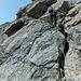 Dossengrat: Klettersteigähnlich ausgerüstet werden Aufschwünge überwunden.