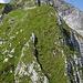 Der weitere Weg zum Gipfel von der Schwöschter aus gesehen. Am Anfang erschien es mir links weniger steil.
