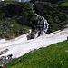 Il salto superiore della cascata del Lammerbach.