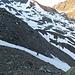 Aufstieg über die pickelhart gefrorenen Firnfelder zum Plateau des (schwindenden) Kronenferners