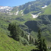 der Wasserfall nahe der Oberen Bludenzer Alp