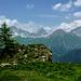 Bei Plang Bleis, eine wunderbar einsame Alplandschaft, da Wanderwege und Alpbauten fehlen.
