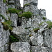 Am Turm: Kaminrinne durch den 2. Felsgürtel