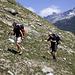 Sven und Jörg beim Aufstieg auf dem Topali-Hüttenweg.