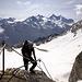 Sven beim Ausstieg aus dem sehr gut gesicherten Schöllijoch-Klettersteig, über den knapp 100 Höhenmeter vom Schölligletscher zum Schöllijoch überwunden werden.