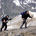 Sven und Jörg erreichen den Gipfel des Innern Barrhorns (3583m).