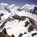 Panorama mit Brunegghorn (3833m), Weisshorn (4505m) und Bishorn (4153m).