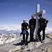 Sven, Jörg und Tobias auf dem Üssern Barrhorn (3610m).