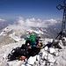 Sven und Jörg auf dem Gipfel des Brunegghorn (3833m).