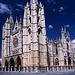 León, 1. August: mit dem Besuch der Kathedrale endet die Reise nach fast 400km zu Fuß. Nach Santiago bleiben noch 325km. Die müssen ein anderes Mal bewältigt werden.