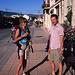 Navarrete - Santo Domingo de la Calzada, 24. Juli: Pilar und Hubert in Navarrete. Mittlerweile ist die die autonome Region La Rioja erreicht. Heute wird der erste Teil der Etappe bis Nájera mit dem Bus zurückgelegt.