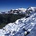 Oberes Kiental mit Hundshorn (2929m), aufgenommen beim Aufstieg zur Blüemlisalp-Hütte.