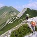 Nach den letzten Klettersteigstellen geht es noch in langem Auf und Ab zum Rottörl.