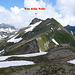 Punta della Valle da quota 2611 m.