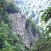 Der Sentier des Roches vom Sentier des Roches: Rückblick zu der ausgesetzten Passage vom vorigen Foto.