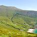 Das Croaghaun-Massiv. Dort geht es heute hinauf, aber mit Umwegen.