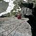 Arête sud du Salbit : 2ème ressaut, longueur clé de L10