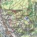 Karte mit Route: Bad Goisern - Primesberg - Ewige Wand - Predigstuhl - Primesberg - Bad Goisern